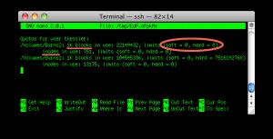 Дисковые квоты в Mac OS X